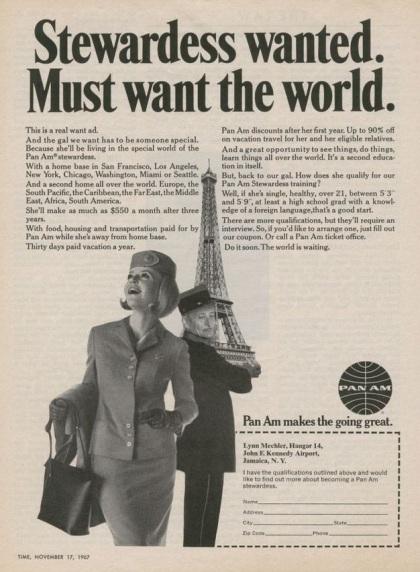 Stewardess-ad